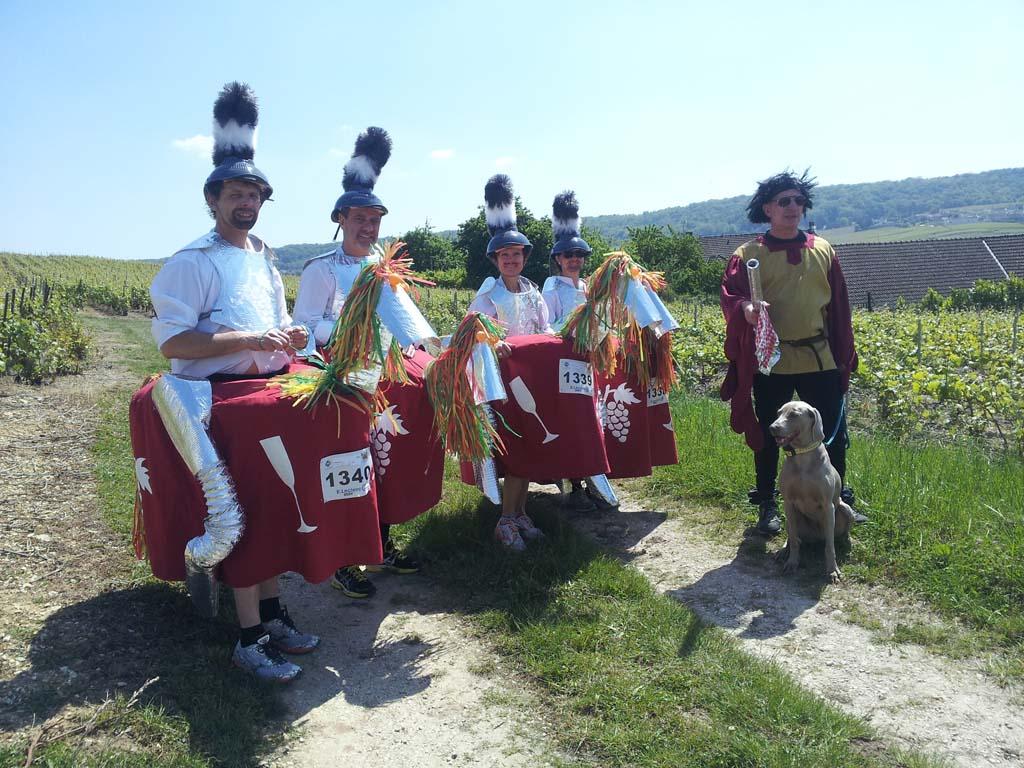 Costumes pour le Marathon de la Champenoise