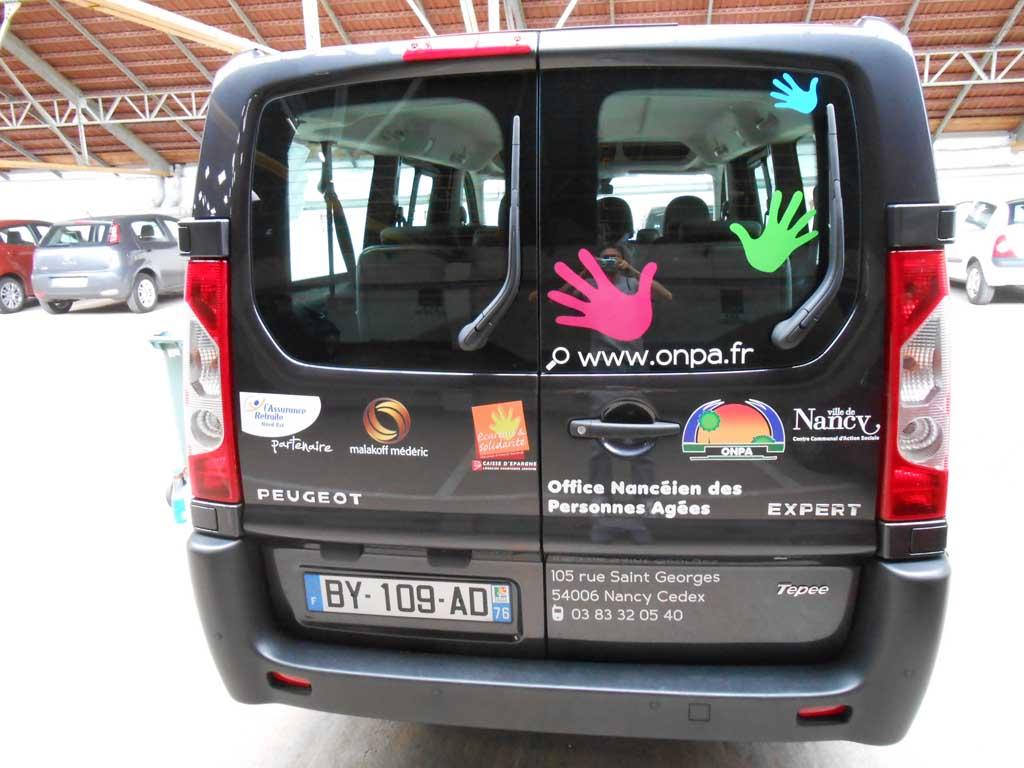 Flocage publicitaire sur auto, voitures, camions et auto école sur Nancy