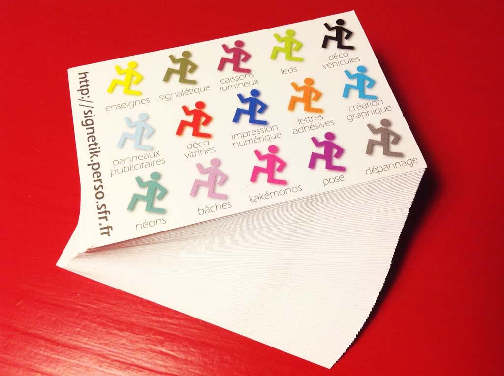 Verso carte de visite crée par sign'ETIK, votre agence de création graphique