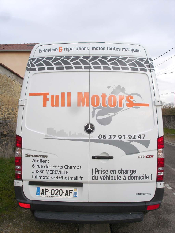 Décoration adhésive arrière véhicule utilitaire camion artisan à Nancy en Lorraine !