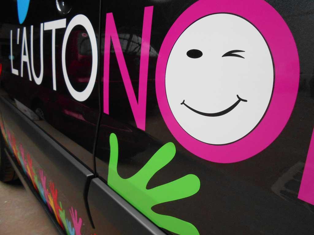 Logos adhésif quadri pour flottes de véhicules et camion auto-école à Nancy 54000