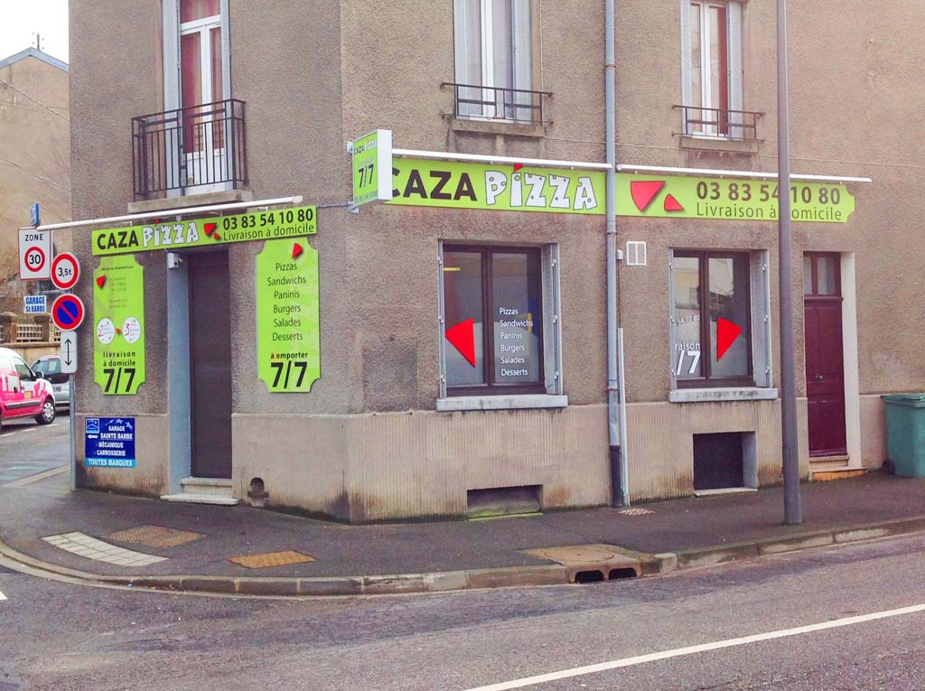 Profilé linéaire lumineux pour éclairage panneaux enseignes restaurants Nancy