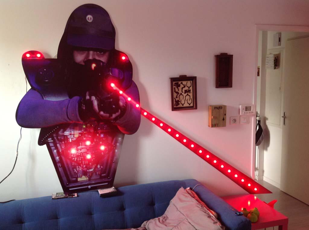 Leds point à point montée sur sujet en dibond laser Maxx Houdemont