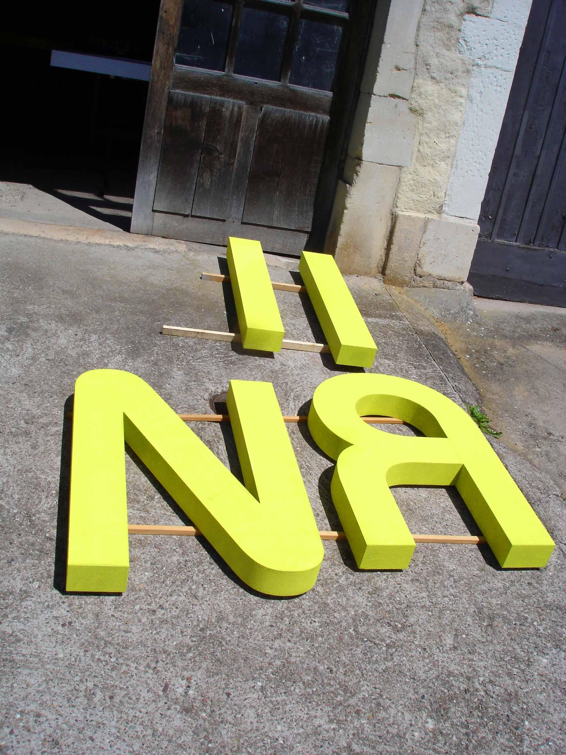 Lettres découpées numérique en polystyrène expansé haute densité