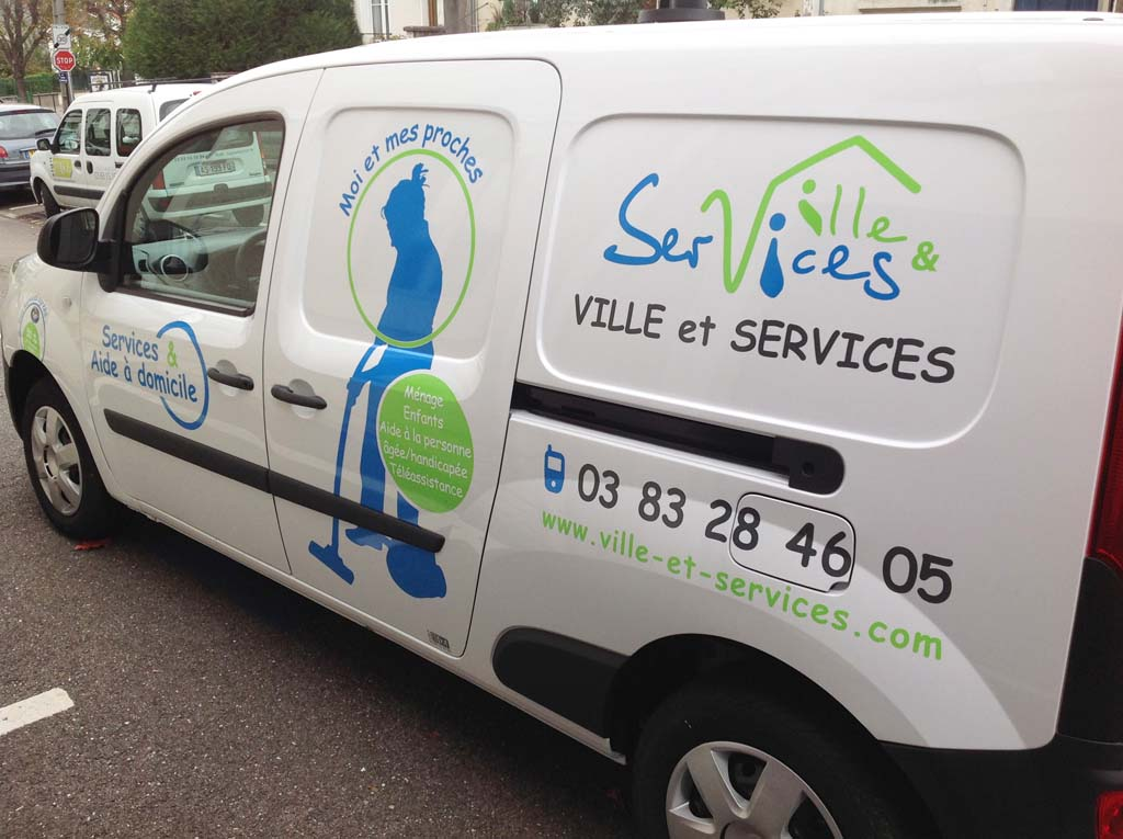 Habillage camions et véhicule utilitaires pour communication adnésive à Nancy près de Pont-à-Mousson 54