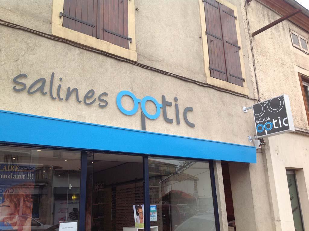 Création du logo et des visuels pour la communication de Salines Optique à Dombasles