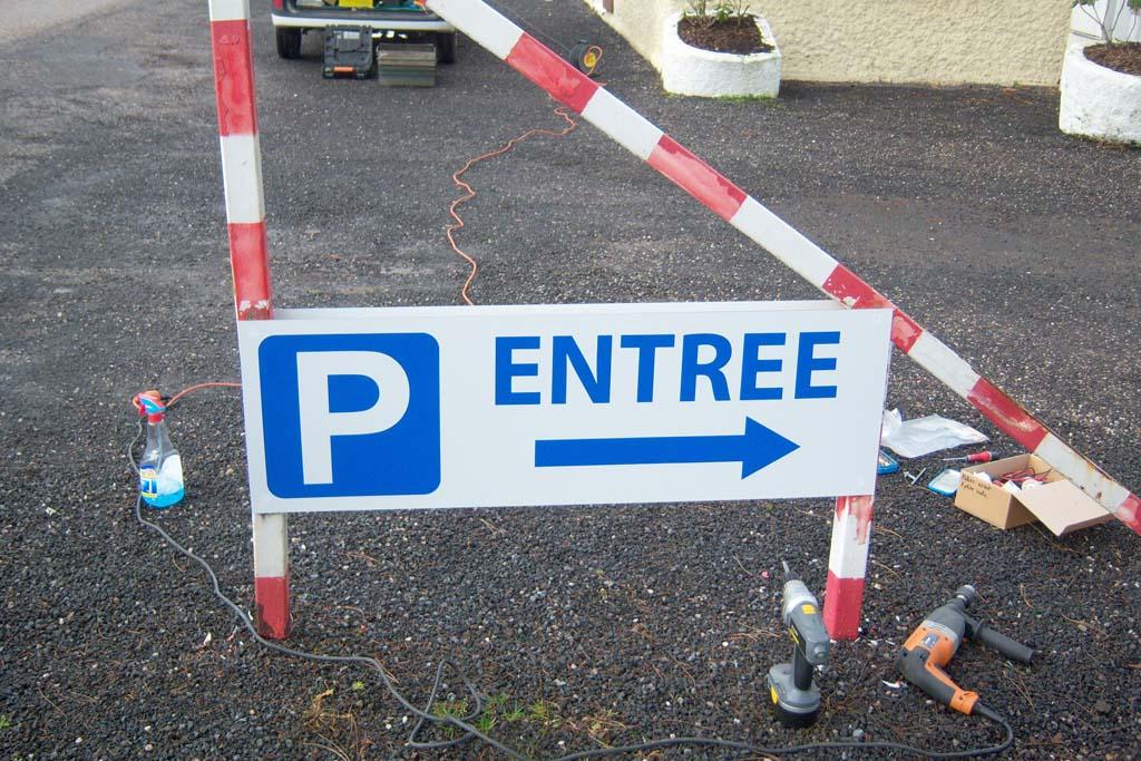 Installation panneaux de signalisation directionnelle à Nancy 54 !