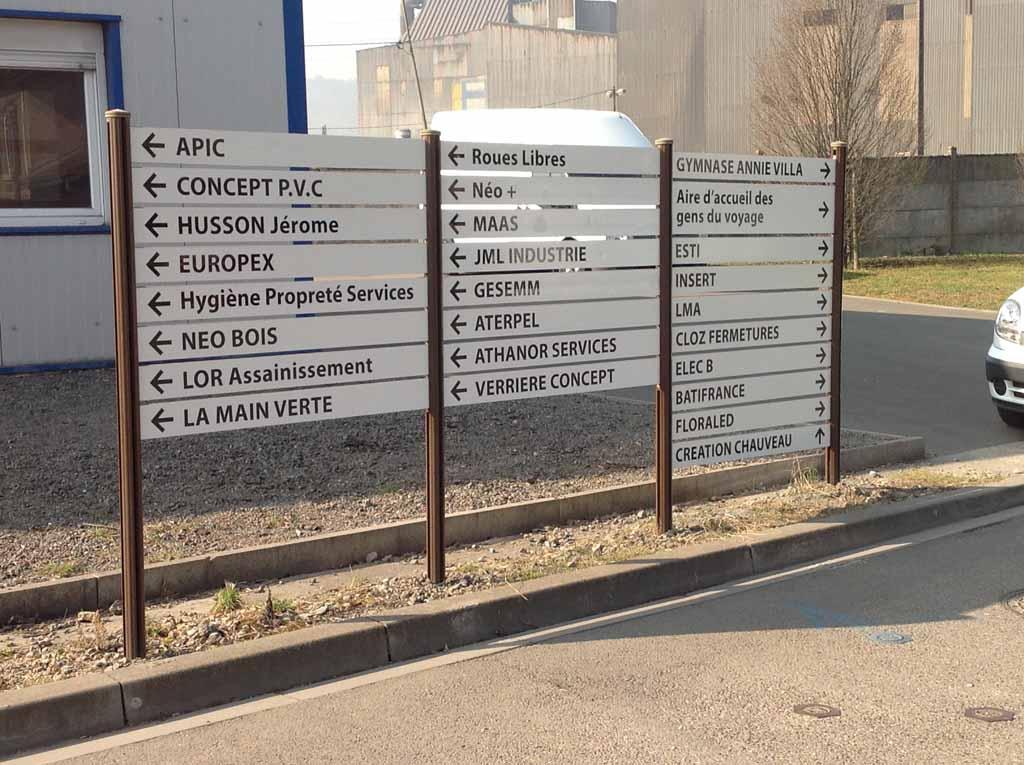 Panneaux signalétique rétro réfléchissant pour Communautés de Communes en Lorraine