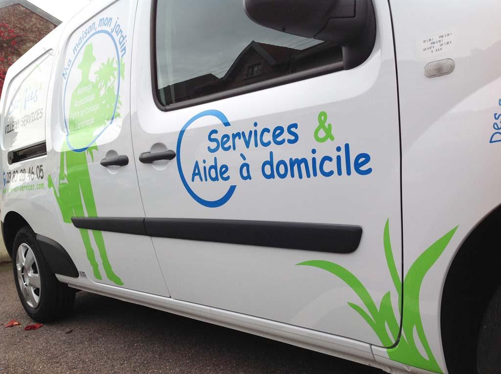 Marquage en adhésif publicitaire pour véhicules utilitaires à Villers-les-Nancy en Lorraine !