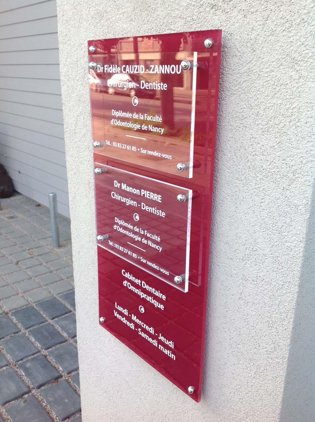 sign'ETIK - signalétique pour cabinets dentaires et centres médicaux à Nancy près de Lunéville