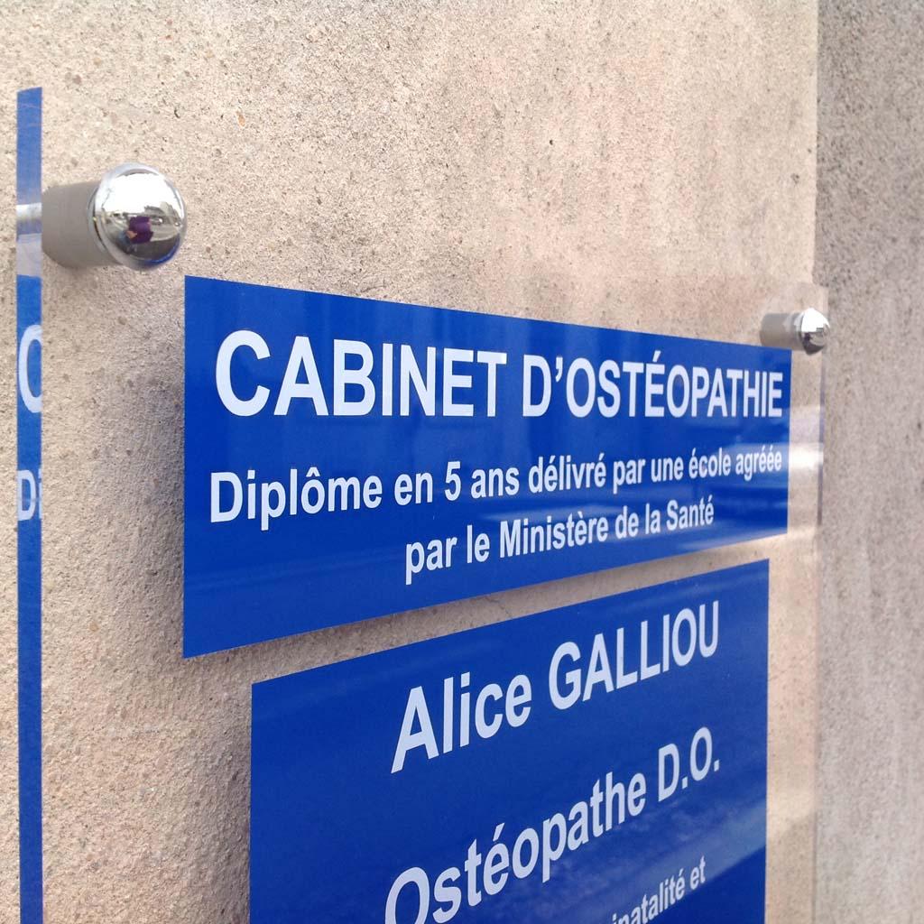 Signalétique et plaques pour cabinets de médecins et centres médicaux à Nancy près de Fléville et Dombasles 54