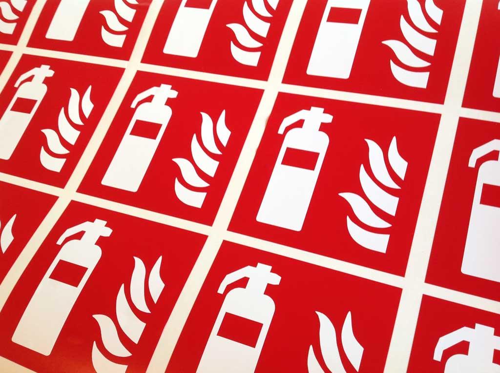 Autocollants de sécurité incendie pour entreprises, collectivités et bâtiments publics à Nancy en Lorraine